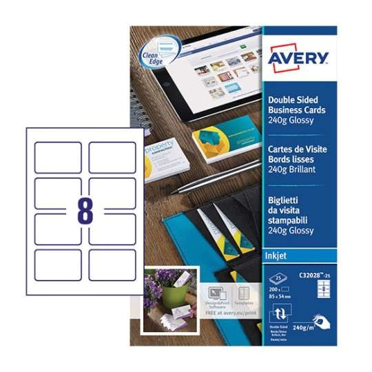 Avery Business Cards Template Business Cards C32028 25 Avery