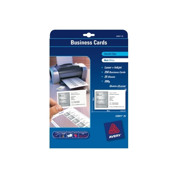 6285 avery business card kit l7414 52x90 20 sheets