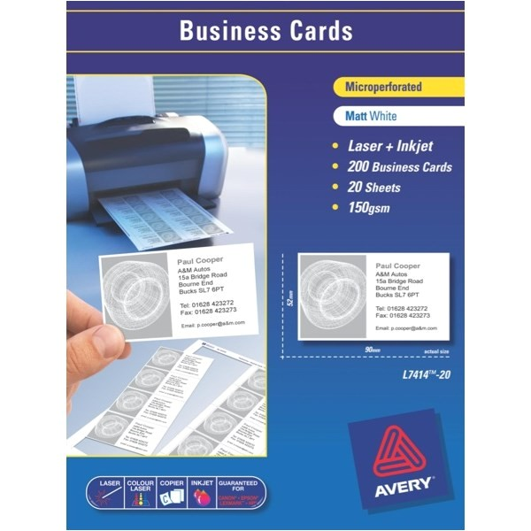 avery business card template laser printer