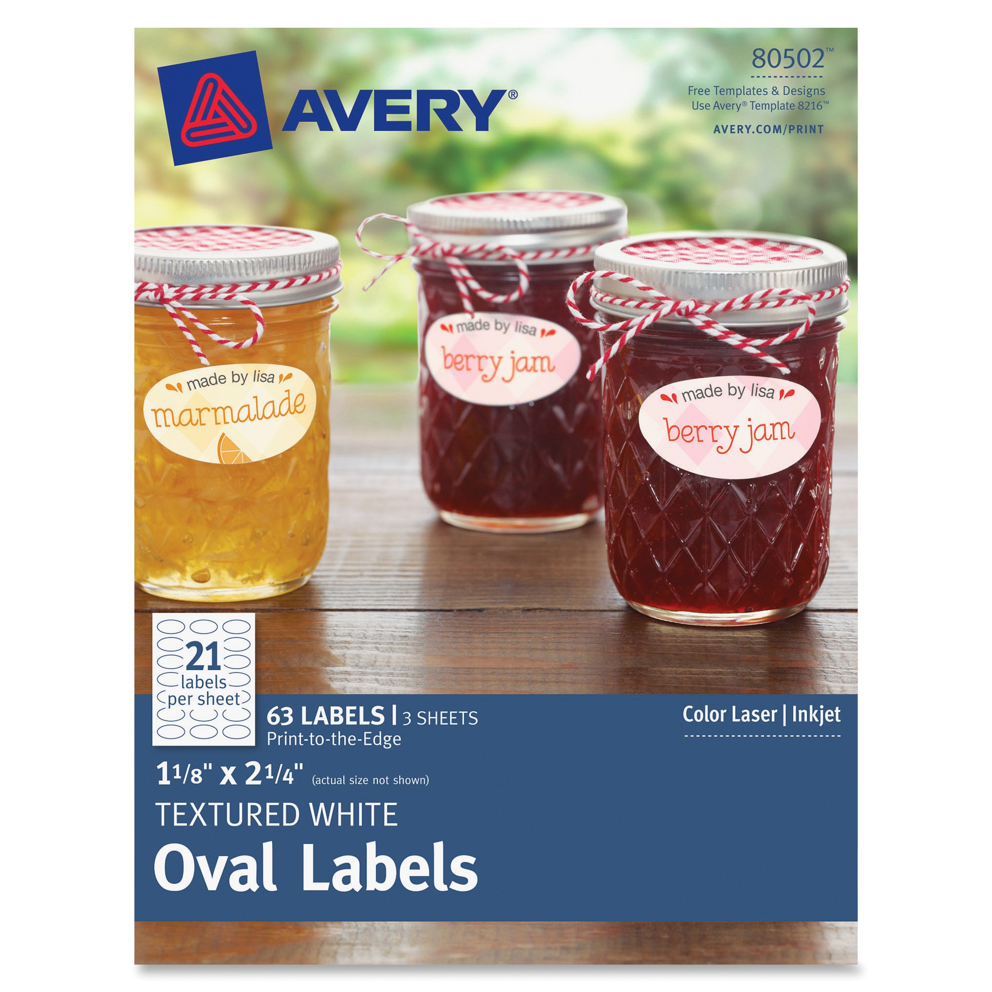 avery textured white oval labels ave80502