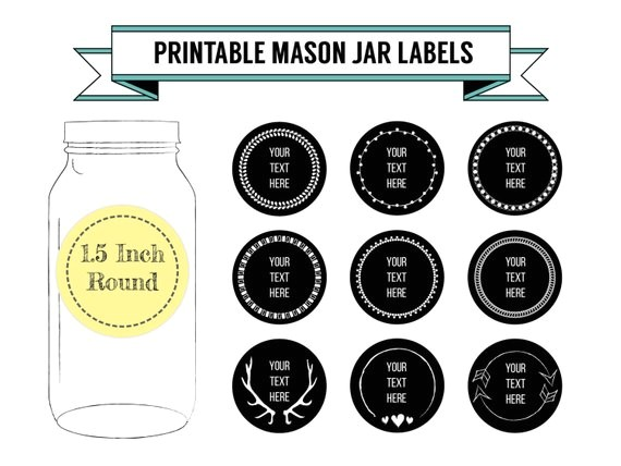 Avery Canning Jar Label Template Printable Diy Chalkboard Mason Jar Labels Canning Labels 9
