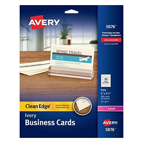 Avery Card Stock Templates Avery 5876 Two Side Printable Clean Edge Business Cards
