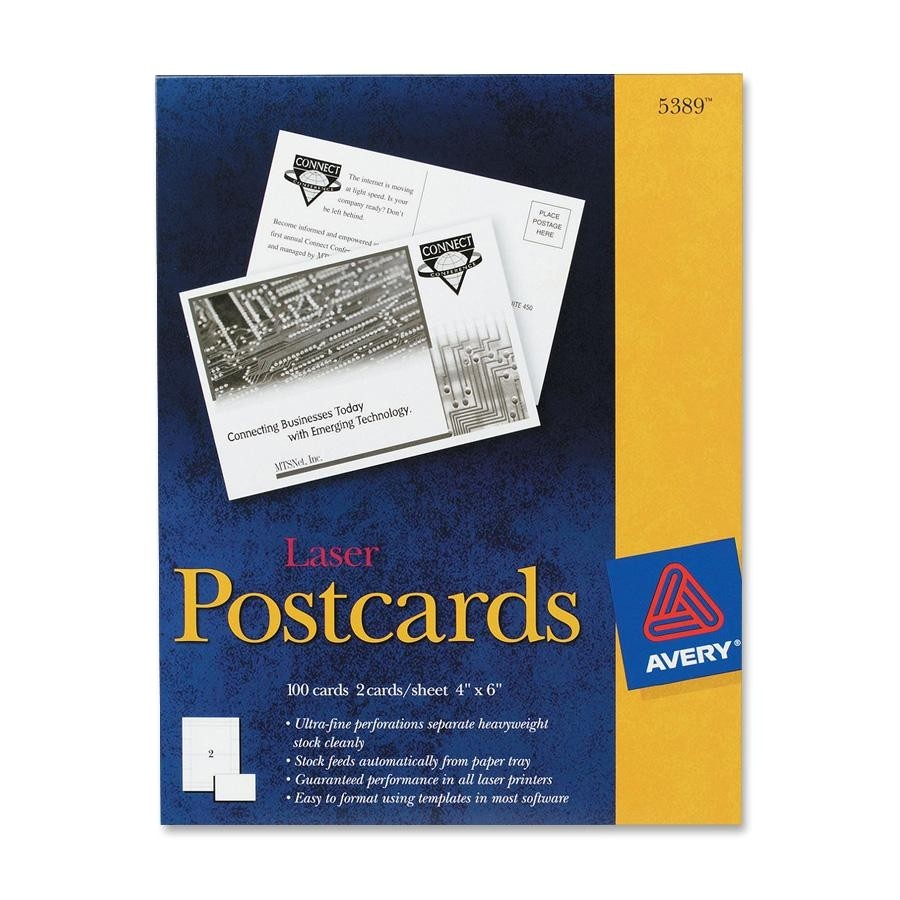 Avery Card Stock Templates Avery Postcard Ld Products