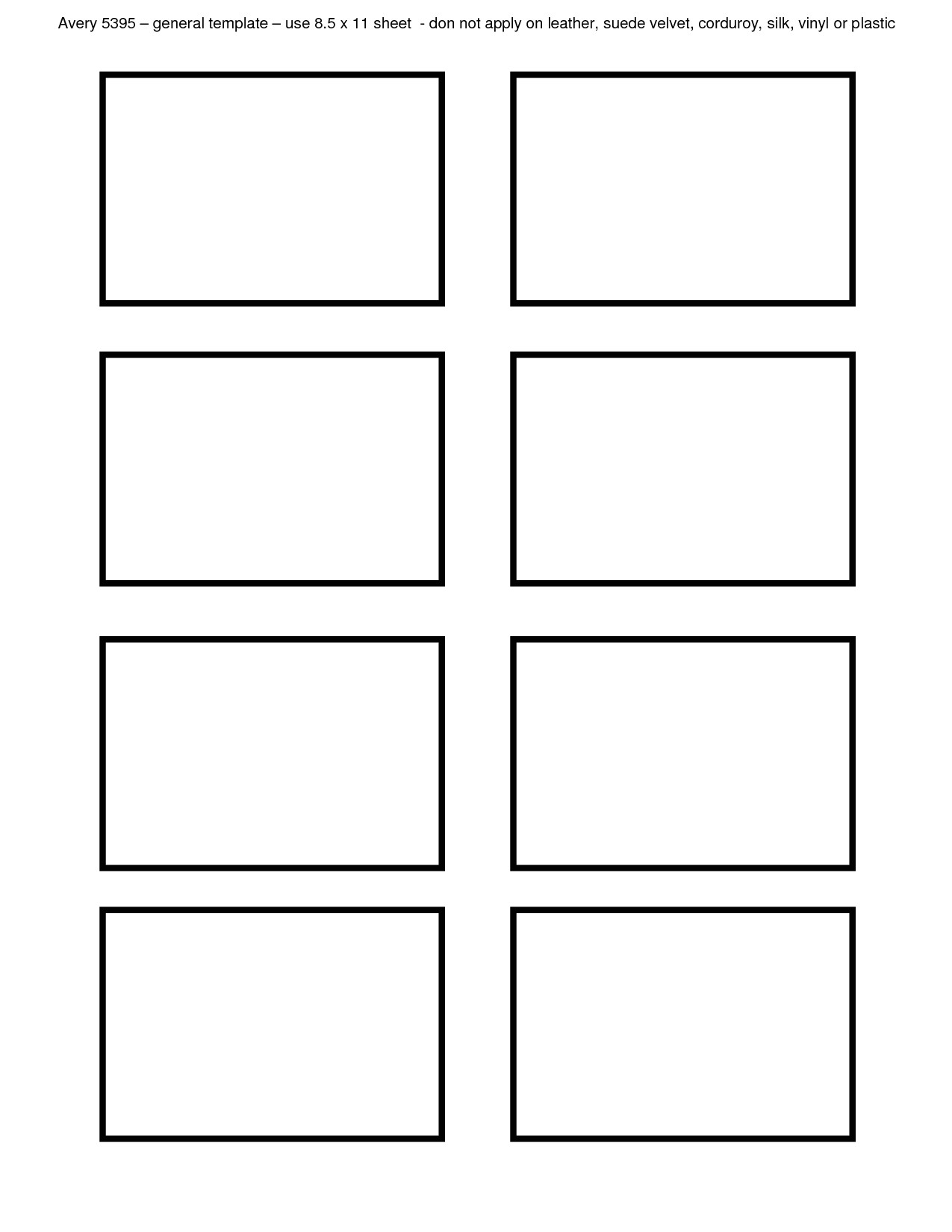 Avery Card Template Avery 8 Label Template Templates Station
