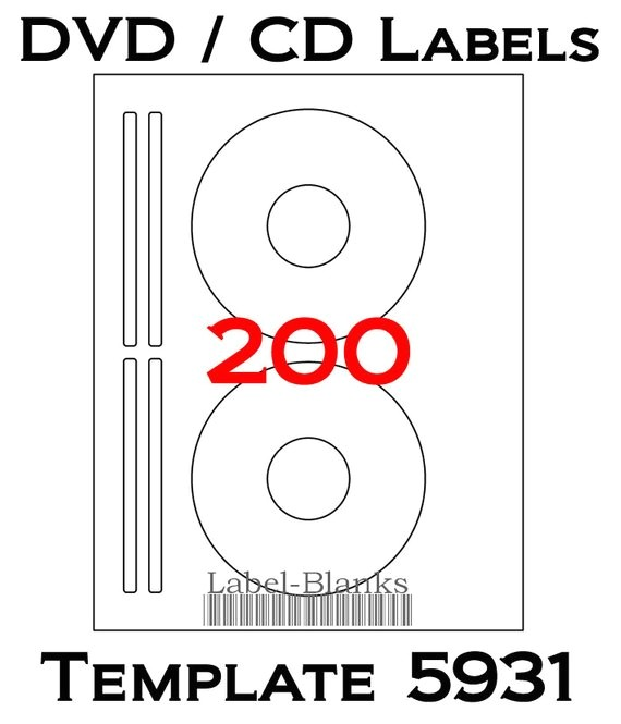 Avery Cd Label Template 8692 Blank Laser Ink Jet Labels for Cd or Dvd 100 Sheets