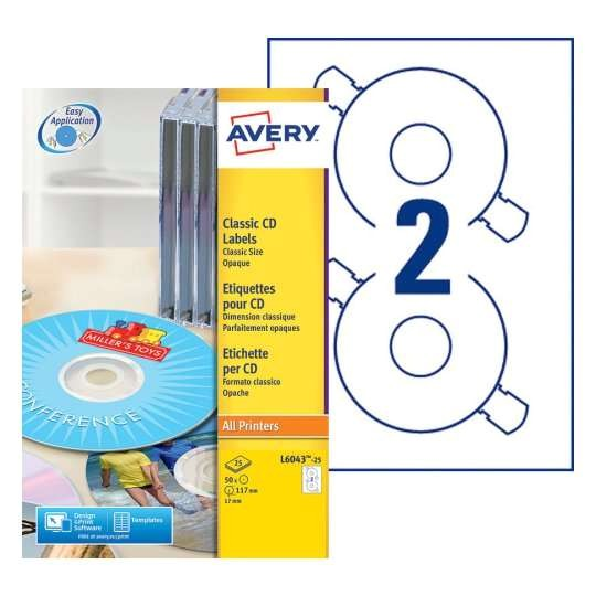 Avery Cd Label Template L6043 Etiquette Cd L6043 25 Avery