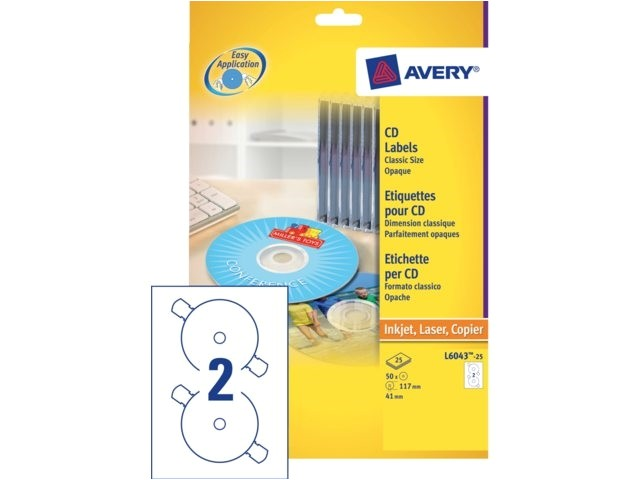 Avery Cd Label Template L6043 Jip Etiket Avery Zweck Cd L6043 100 200st