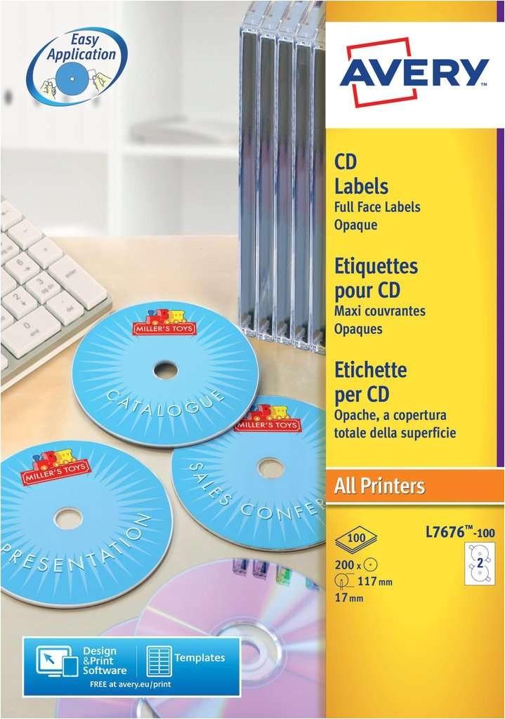 cd labels l7676 100