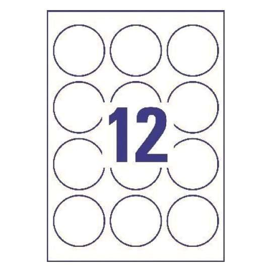 round product labels l3416 100