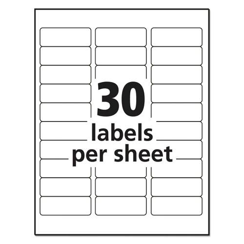 clear easy peel address labels inkjet 1 x 2 58 300pack ave18660