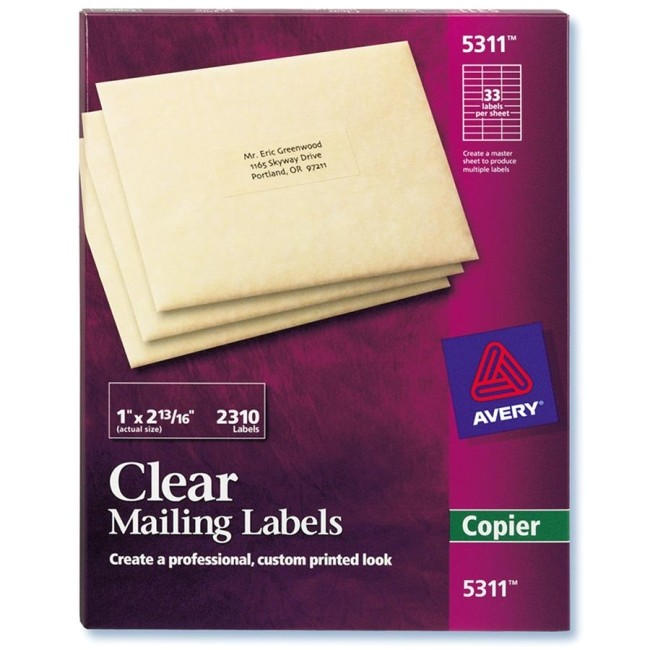 clear mailing label ave5311 2171673 prd1