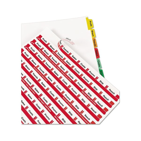 Avery Easy Apply 8 Tab Template Print Apply Clear Label Dividers W Color Tabs 8 Tab Letter