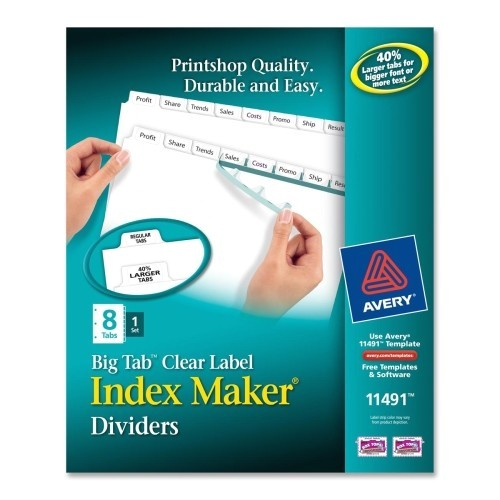 Avery Easy Apply Label Strips 5 Tab Template Brand New Avery Index Maker with Big Tab Dividers 11491
