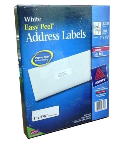 Avery Easy Peel Labels Template 5160 Address Labels Avery Easy Peel White Laser Inkjet