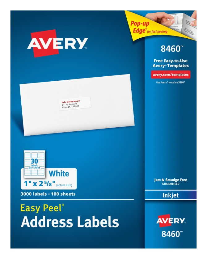 Avery Easy Peel Labels Template 5160 Avery Labels 8460 Template Avery 8460 Template Gallery