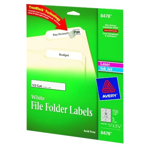 Avery File Folder Label Templates Avery File Folder Labels for Laser and Inkjet Printers 0
