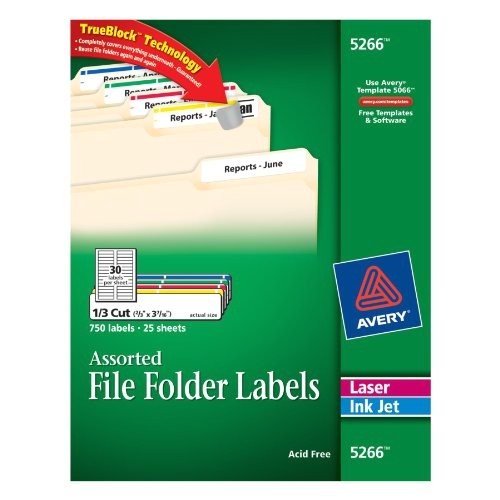 avery file folder labels in assorted colors for la b00006hpxj