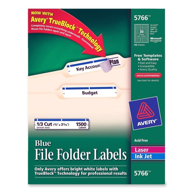 Avery File Folder Label Templates Printer