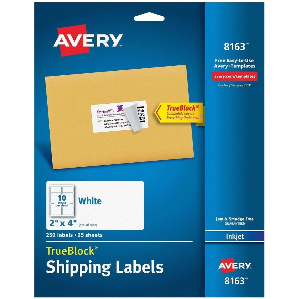 large shipping label template