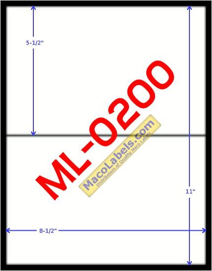 half sheet label
