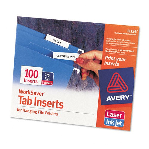 Avery Hanging File Folder Labels Template Avery Printable Inserts for Hanging File Folders 1 5 Tab