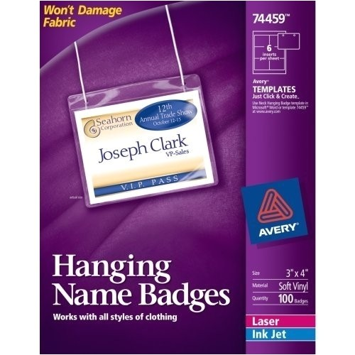 Avery Hanging Name Badges 74459 Template Avery Name Badge Template Beepmunk