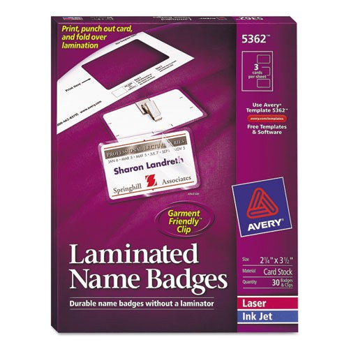 Avery Hanging Name Badges 74459 Template Bettymills Avery Laminated Clip Style Name Badges