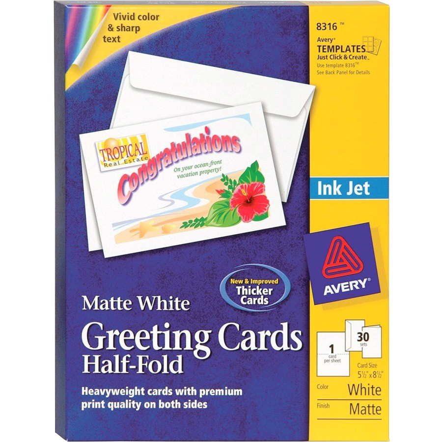 avery greeting card ave8316