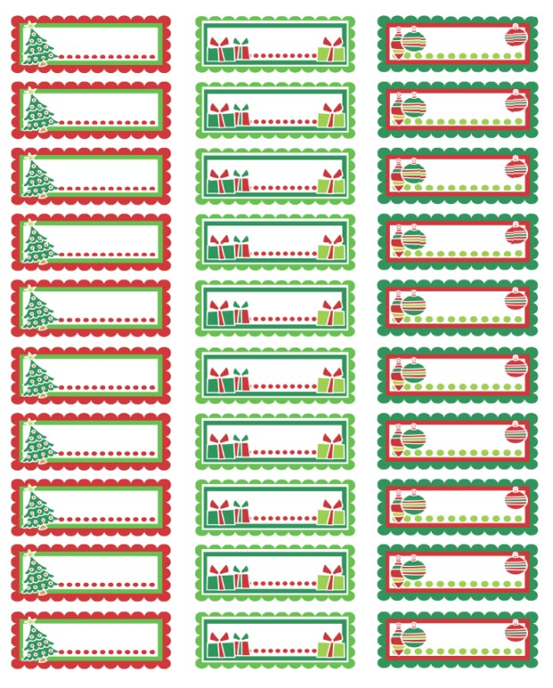 christmas labels ready to print