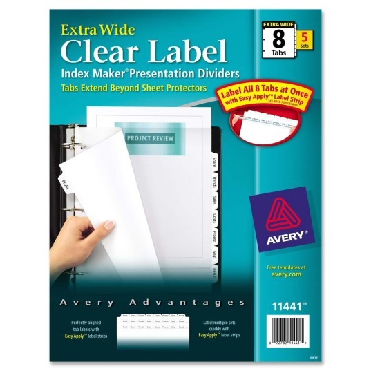 avery ave11441 index maker extra wide tab dividers