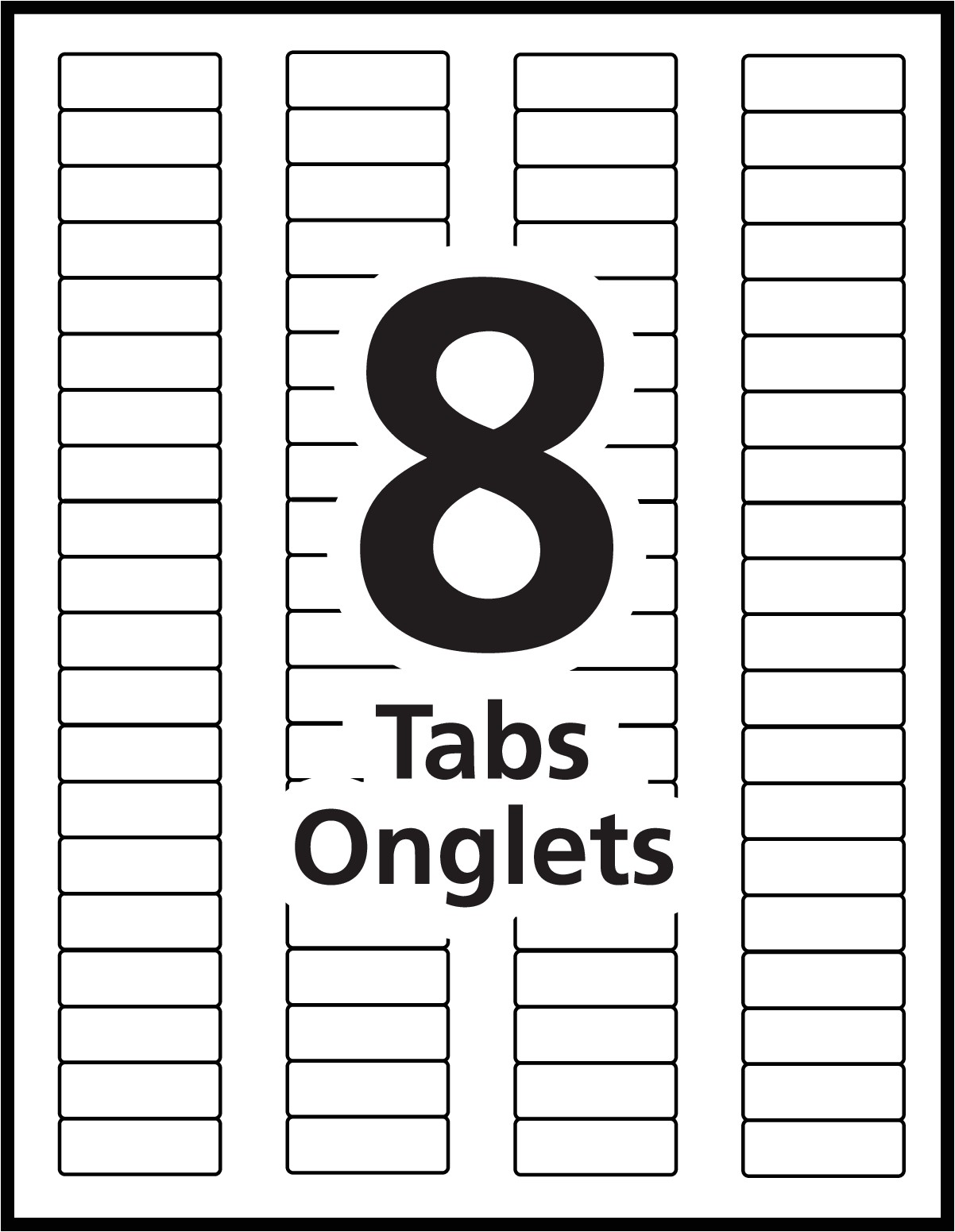 Avery Index Tabs Template Index Maker Dividers Templates Avery