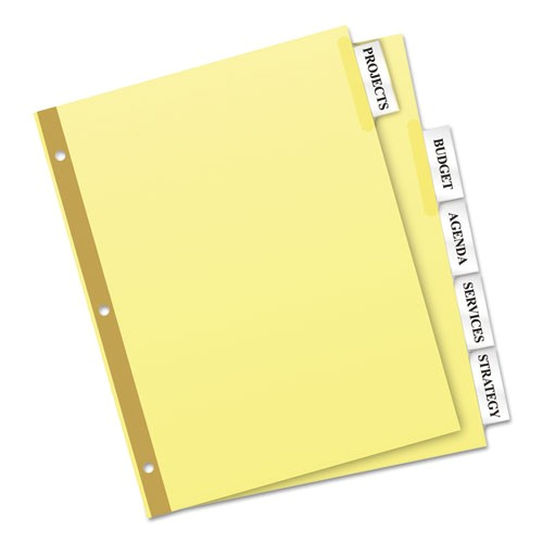insertable big tab dividers 5 tab letter ave11110