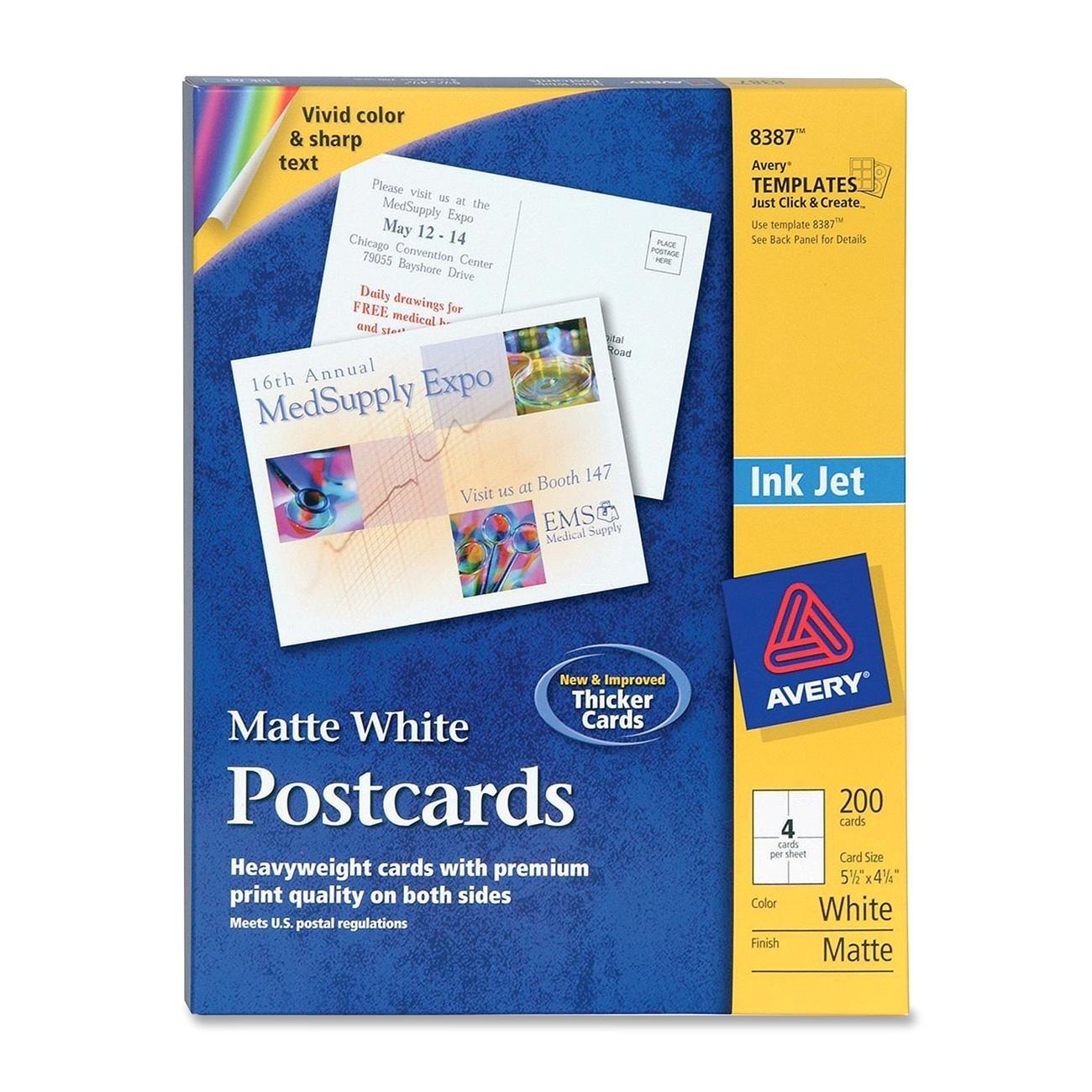 avery invitation card 200 per box 5 50 x 4 25 matte white
