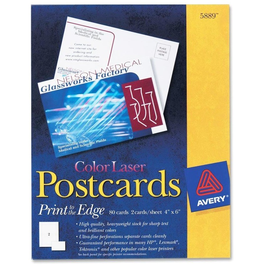avery laser print invitation card ave5889