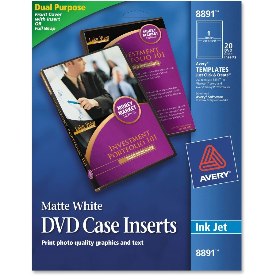 avery jewel case insert ave8891
