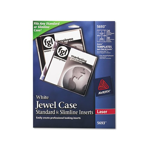 Avery Jewel Case Insert Template Avery Laser Cd Dvd Jewel Case Inserts Ave5693 Shoplet Com