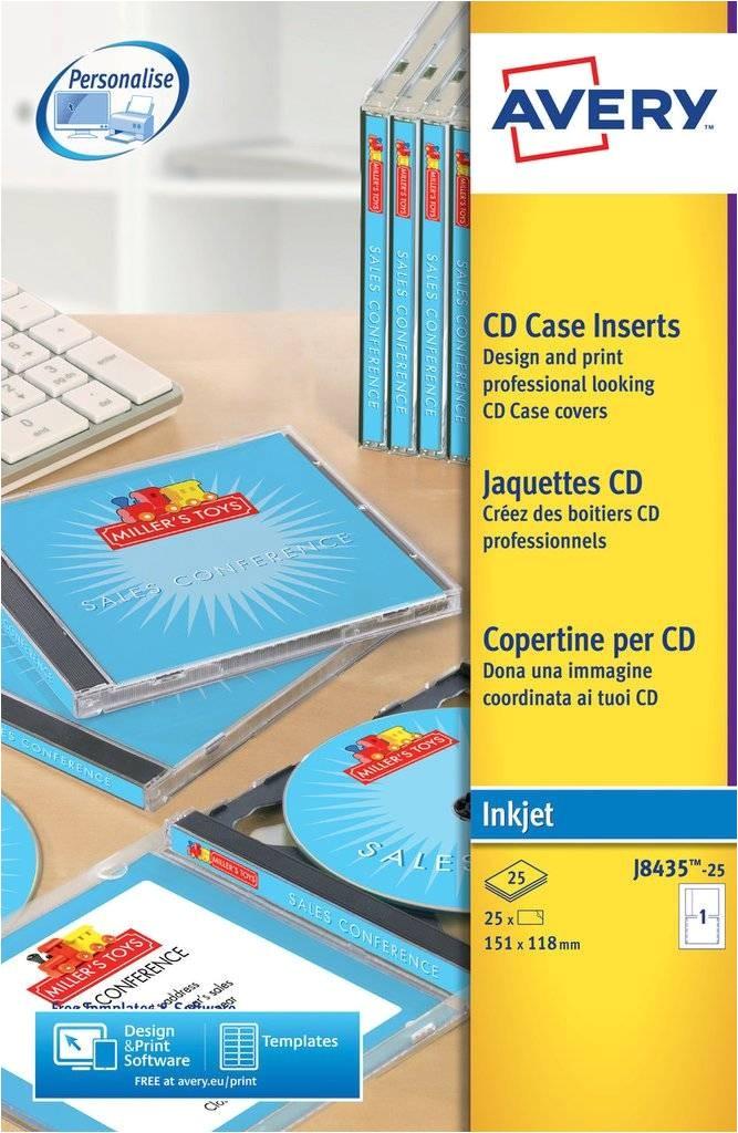 Avery Jewel Case Insert Template Cd Case Inserts J8435 25 Avery