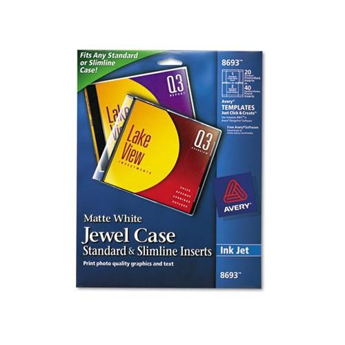 Avery Jewel Case Template Avery Inkjet Cd Dvd Jewel Case Inserts Ave8693 Shoplet Com