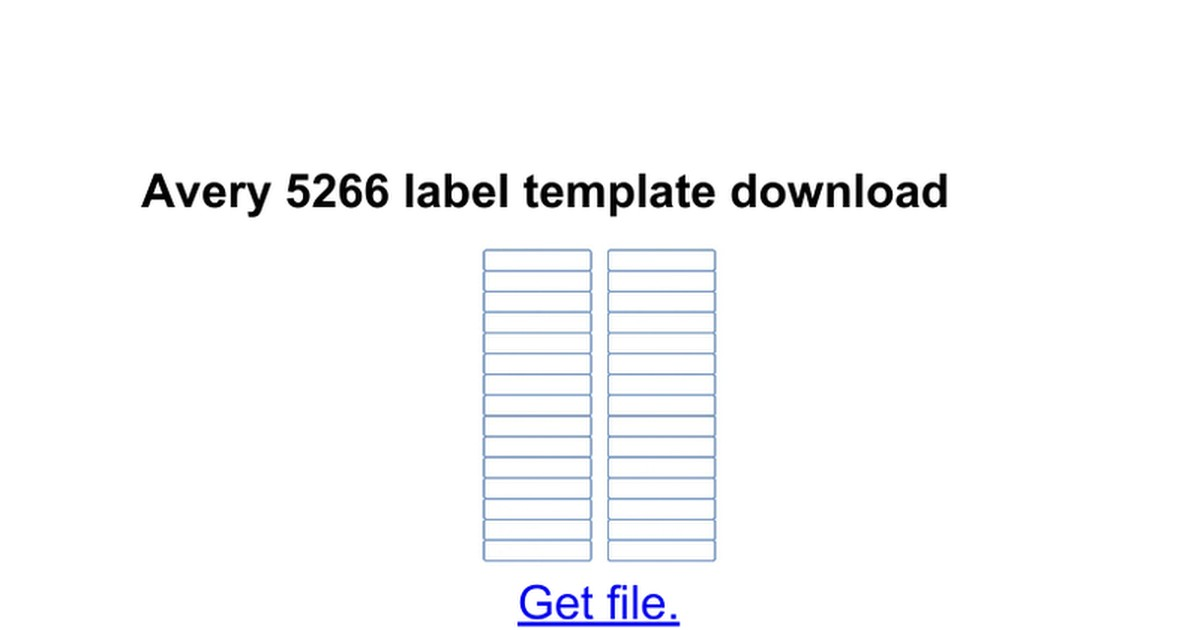 avery 5266 template word 2013