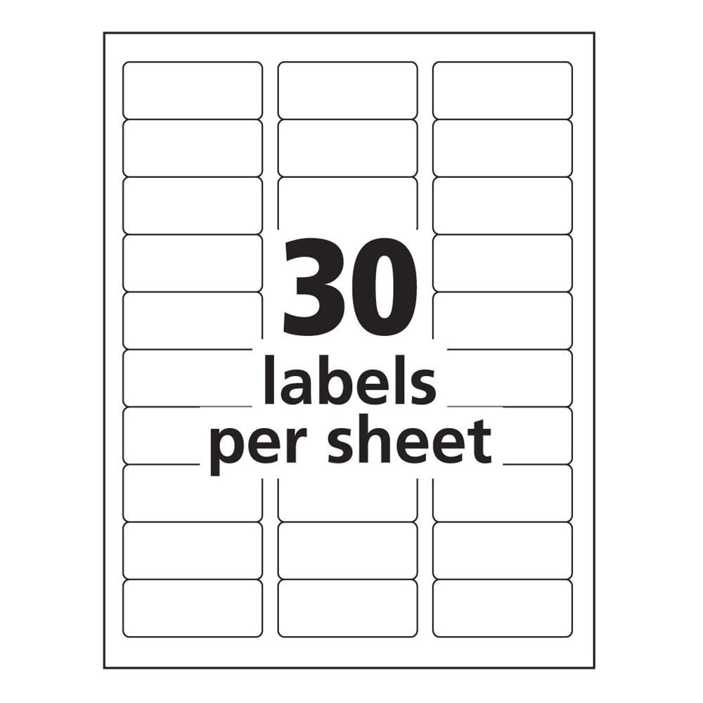 avery 8160 label template word