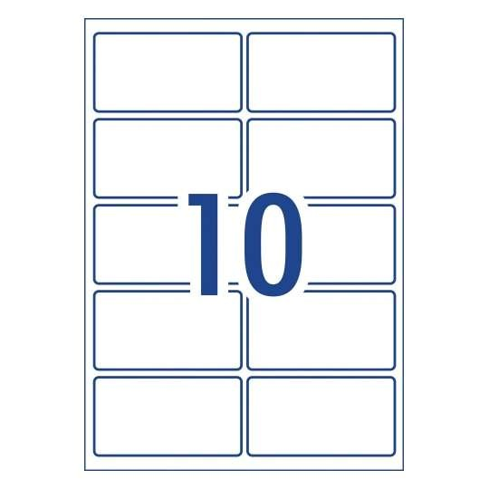 avery labels 10 per sheet template