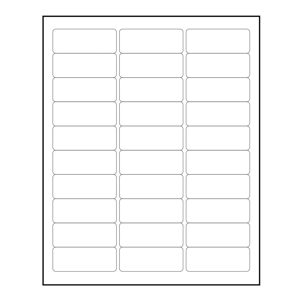 Avery Labels 5160 Template Blank 3000 Blank 1 Quot X 2 5 8 Quot Return Address Labels Inkjet