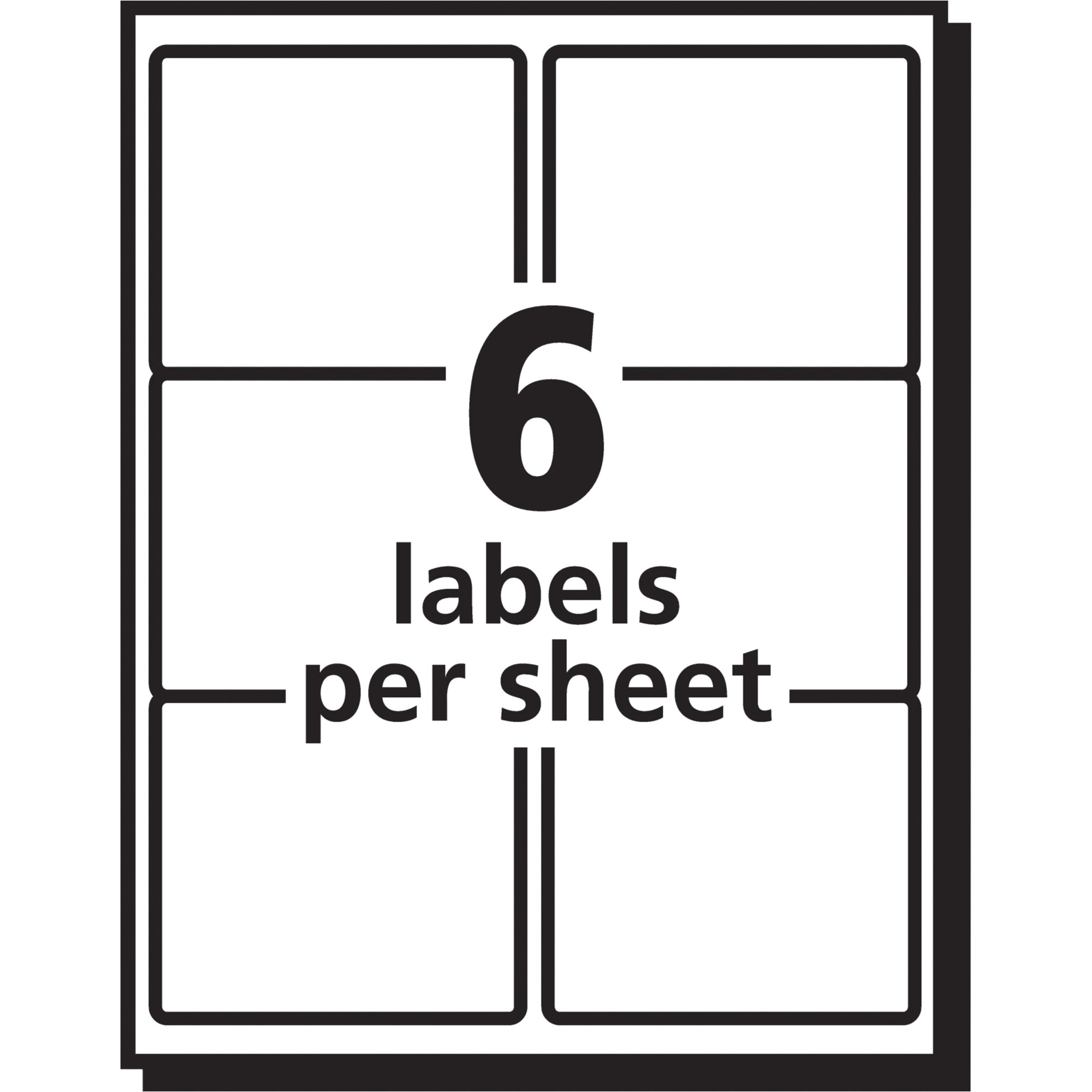 Avery Labels 6 Per Page Template Avery Easy Peel Mailing Label Ave5664 Supplygeeks Com