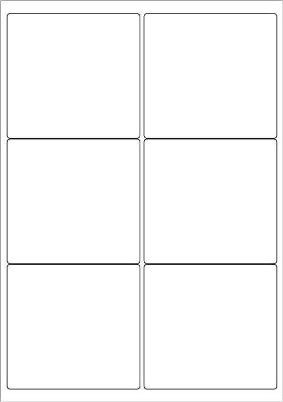 label template 6 per sheet 1184