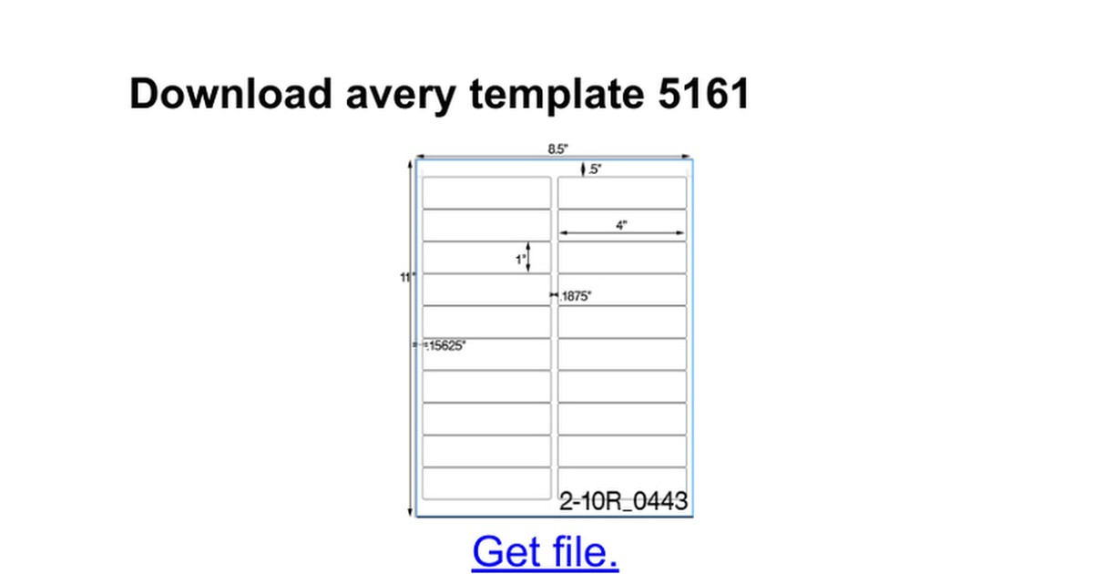 avery label 5161 template
