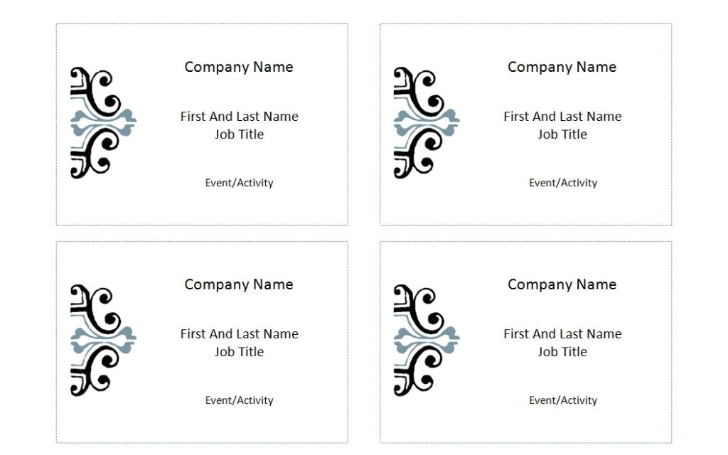 Avery Labels Name Badge Template Avery Label 5395 Template