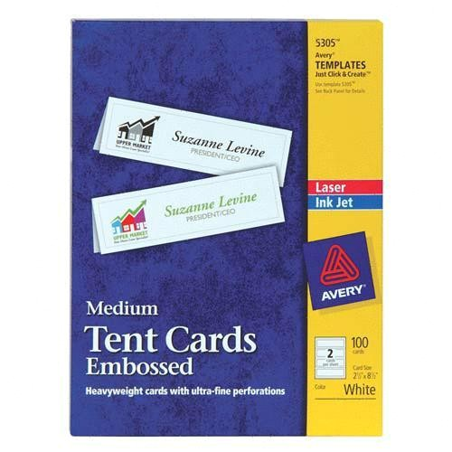 laser amp ink jet tent cards ave5305 2173392 prd1