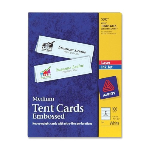 avery 205305 20laser 20tent 20card