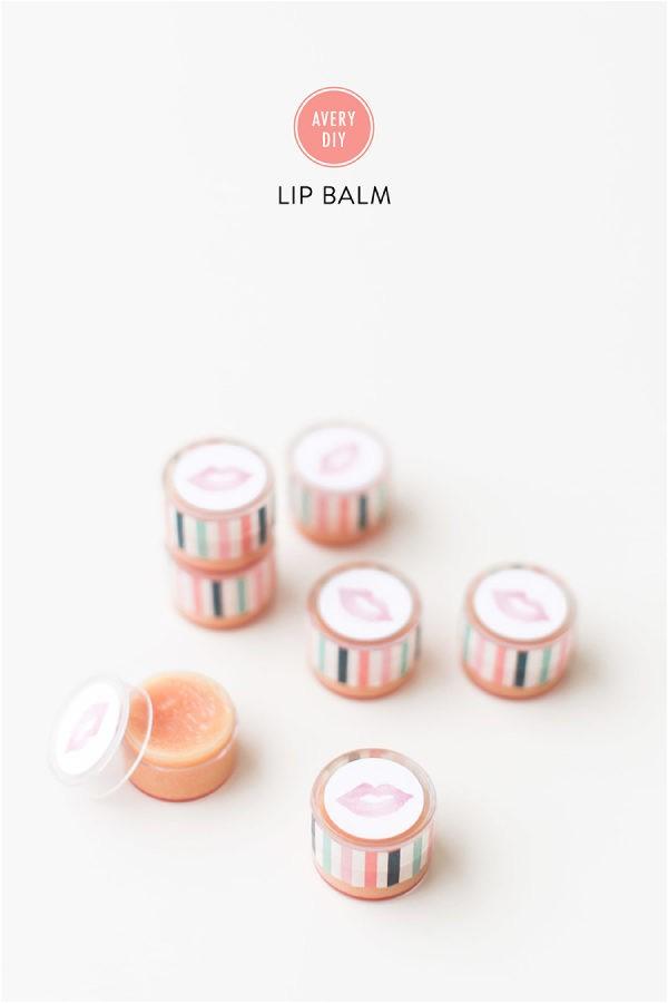 diy lip balm with avery