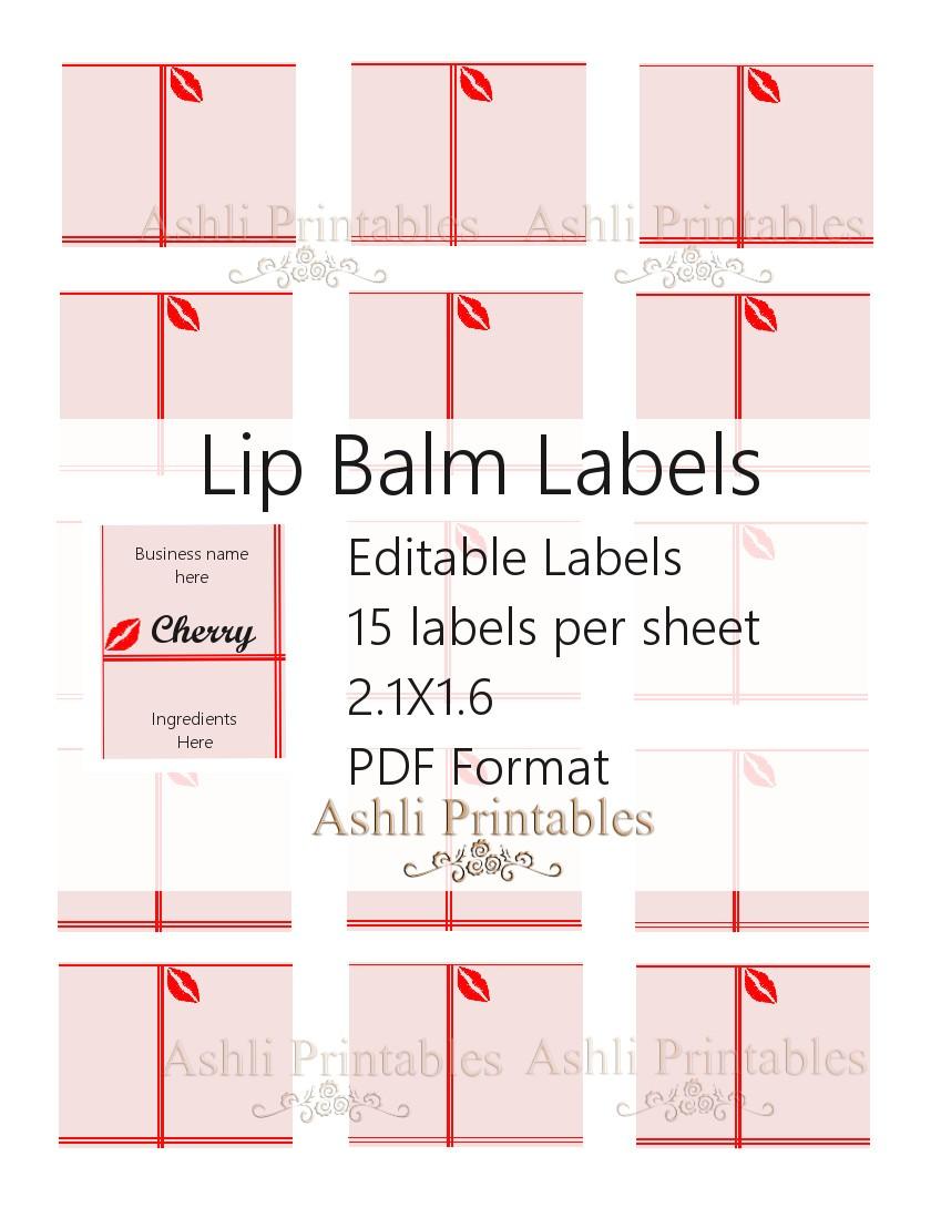printable lip balm label template